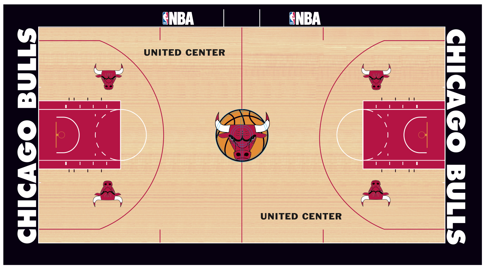 Nba court wallpaper 104469 - Terrain de basket maison ...