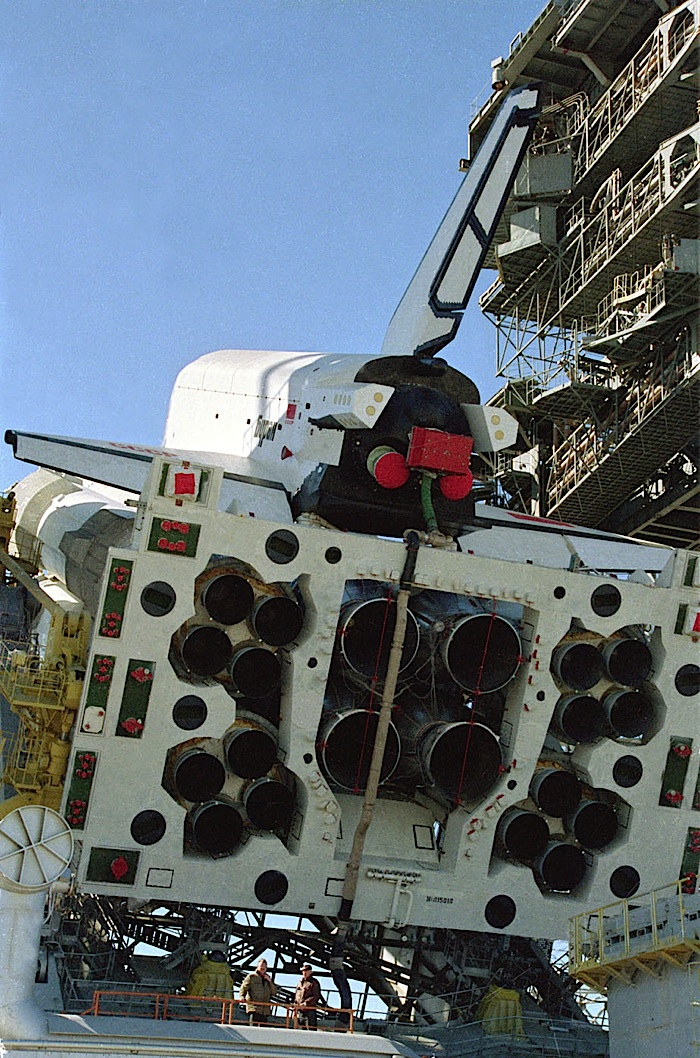 navette spatiale russe buran pas de tir decollage 04 Buran, la navette spatiale Russe