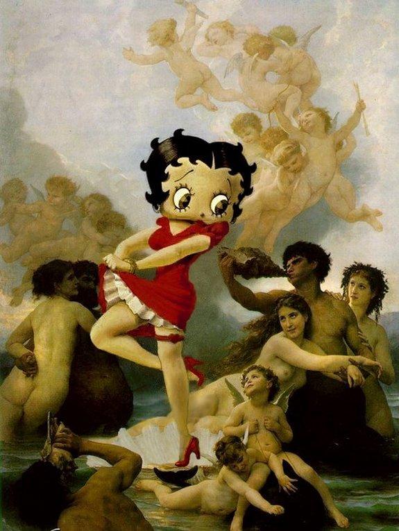 Dessins animés d'art érotique