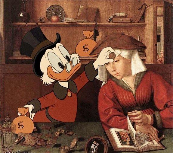 art rencontre dessin anime personnage tableau celebre 16 Tableaux célèbres et personnages de dessin animés