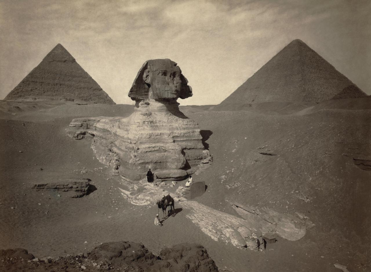 egypte vintage ancien vieille photo pyramide 02 LÉgypte avant les touristes