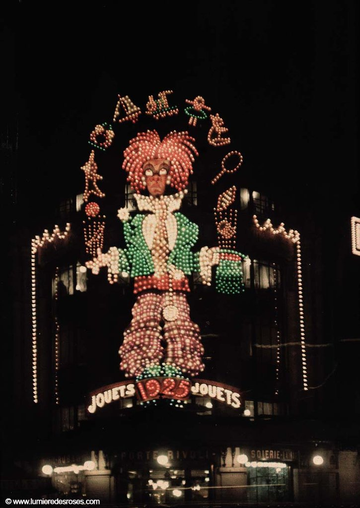 leon gimpel illumination noel paris magasin 02 Les autochromes parisiens de Léon Gimpel photo histoire featured art