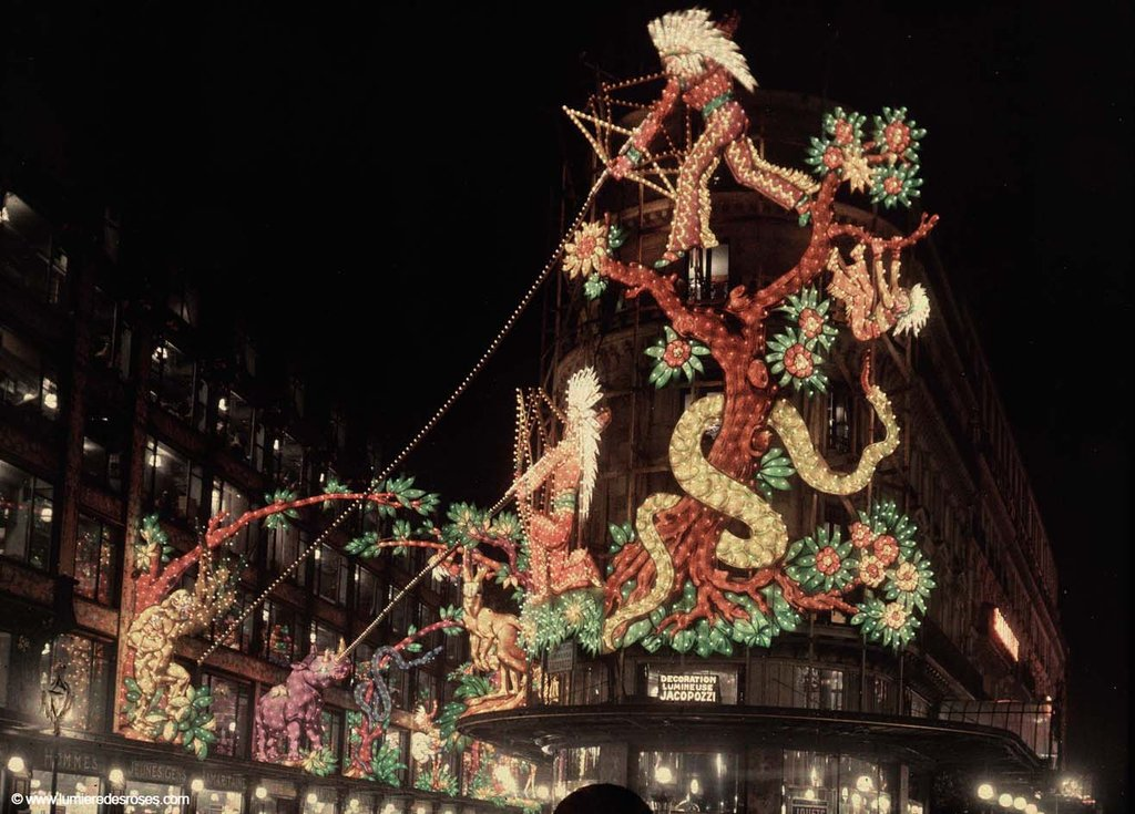 leon gimpel illumination noel paris magasin 03 Les autochromes parisiens de Léon Gimpel photo histoire featured art