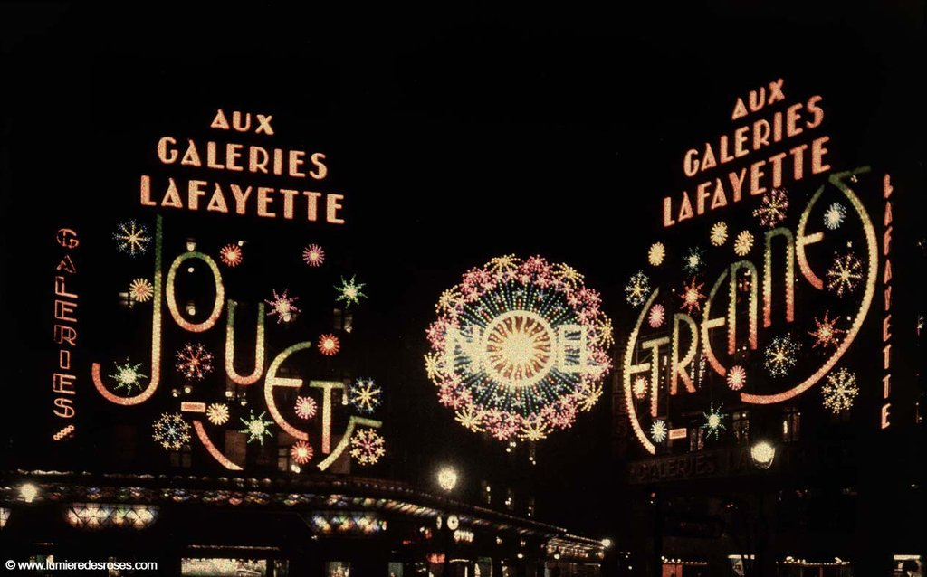 leon gimpel illumination noel paris magasin 04 Les autochromes parisiens de Léon Gimpel photo histoire featured art