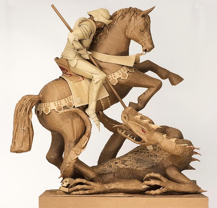 sculpture en carton