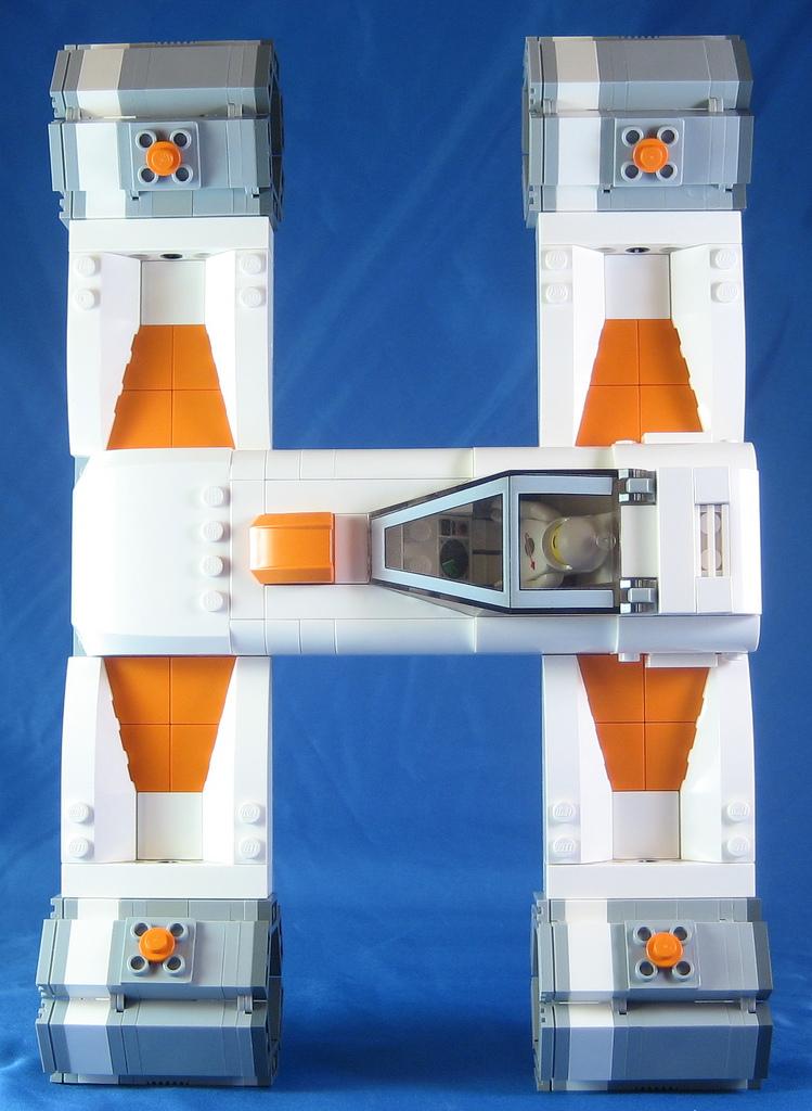 alphabet vaisseau spatial lego star wars 08 Alphabet de vaisseaux spatiaux en Lego