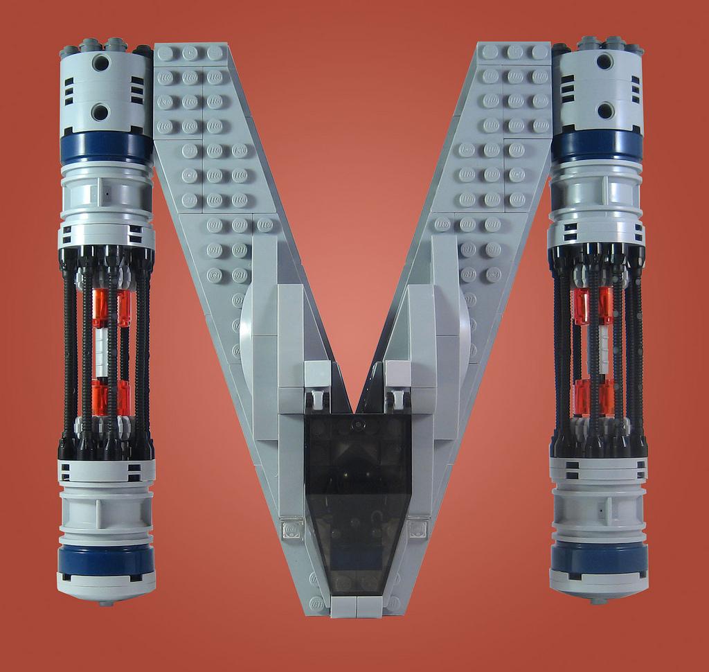 alphabet vaisseau spatial lego star wars 13 Alphabet de vaisseaux spatiaux en Lego