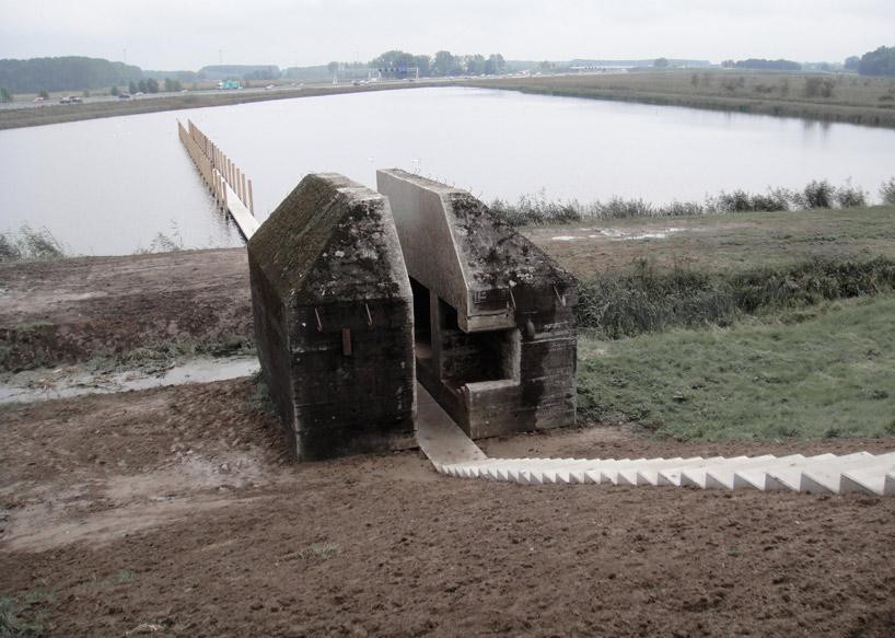 bunker decoupe traverse 01 Un bunker découpé