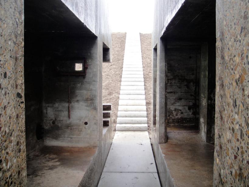 bunker decoupe traverse 03 Un bunker découpé