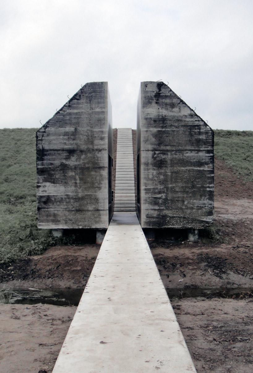 bunker decoupe traverse 05 Un bunker découpé