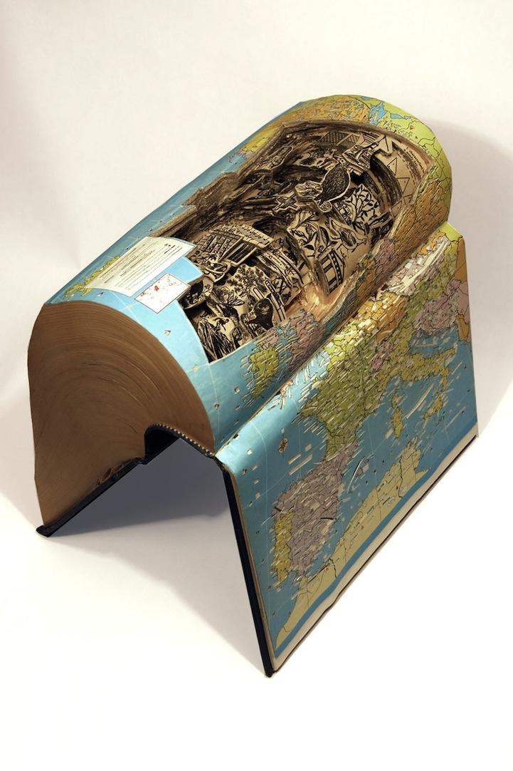 livre sculpture 02 Des sculptures sur livres