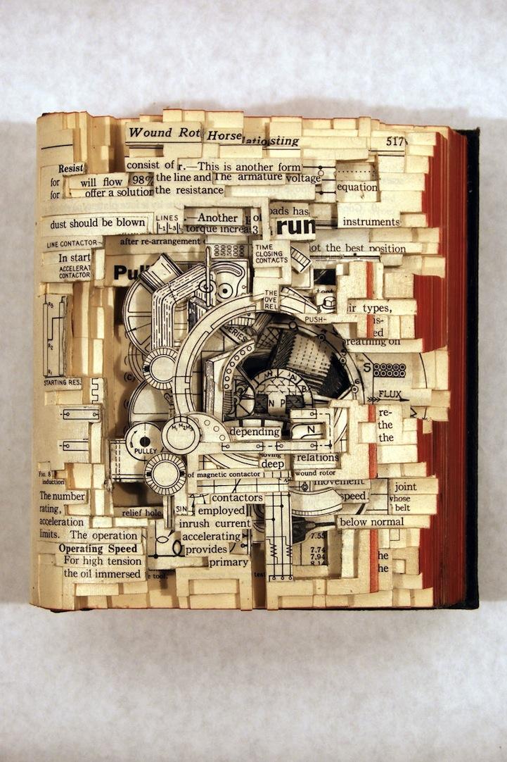 livre sculpture 03 Des sculptures sur livres
