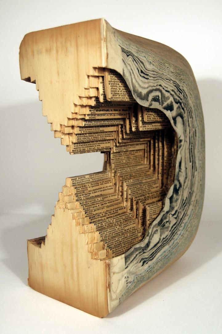 livre sculpture 04 Des sculptures sur livres