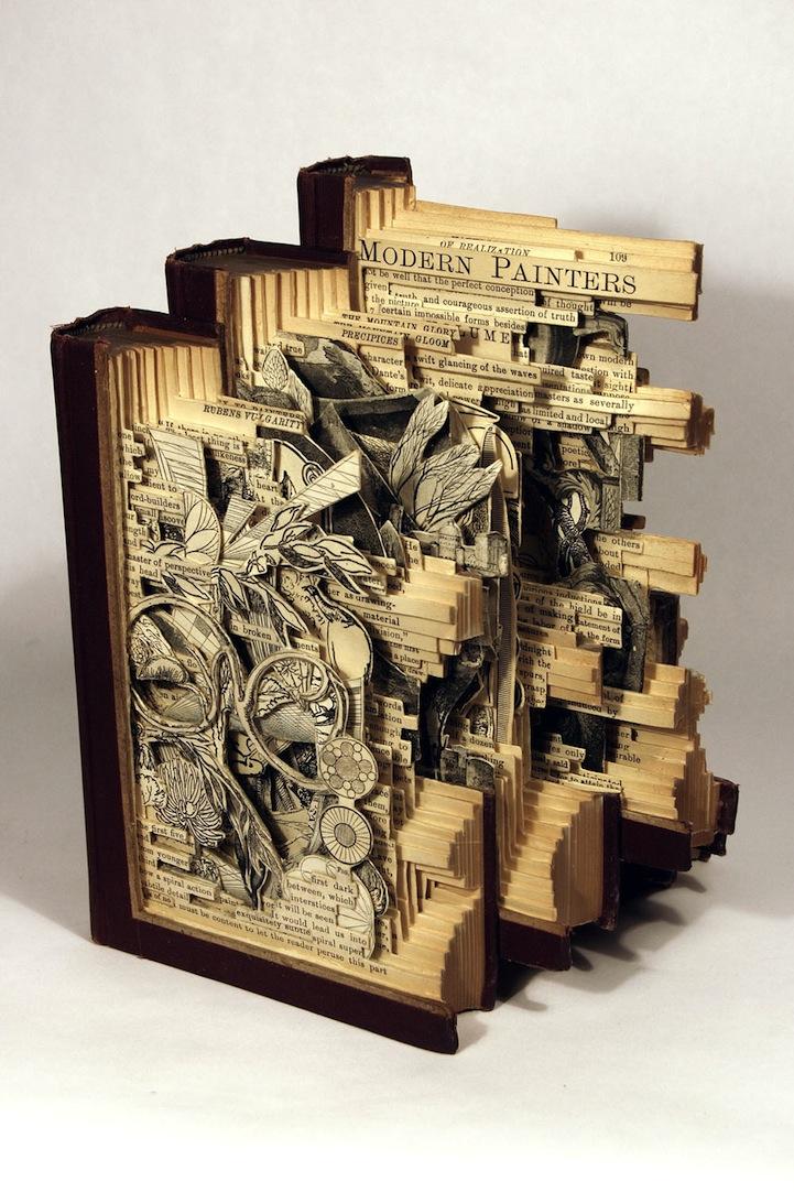 livre sculpture 09 Des sculptures sur livres