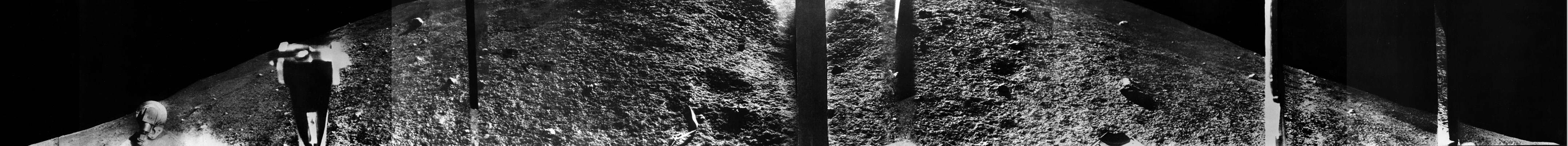 lune panoramique luna 9 Histoire photographique de la Lune