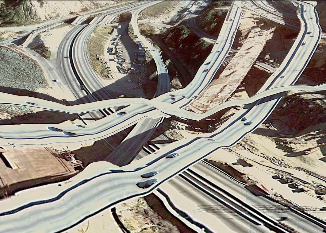 pont route google earth altitude relief 3d 01 Les ponts de Google Earth  geek featured art