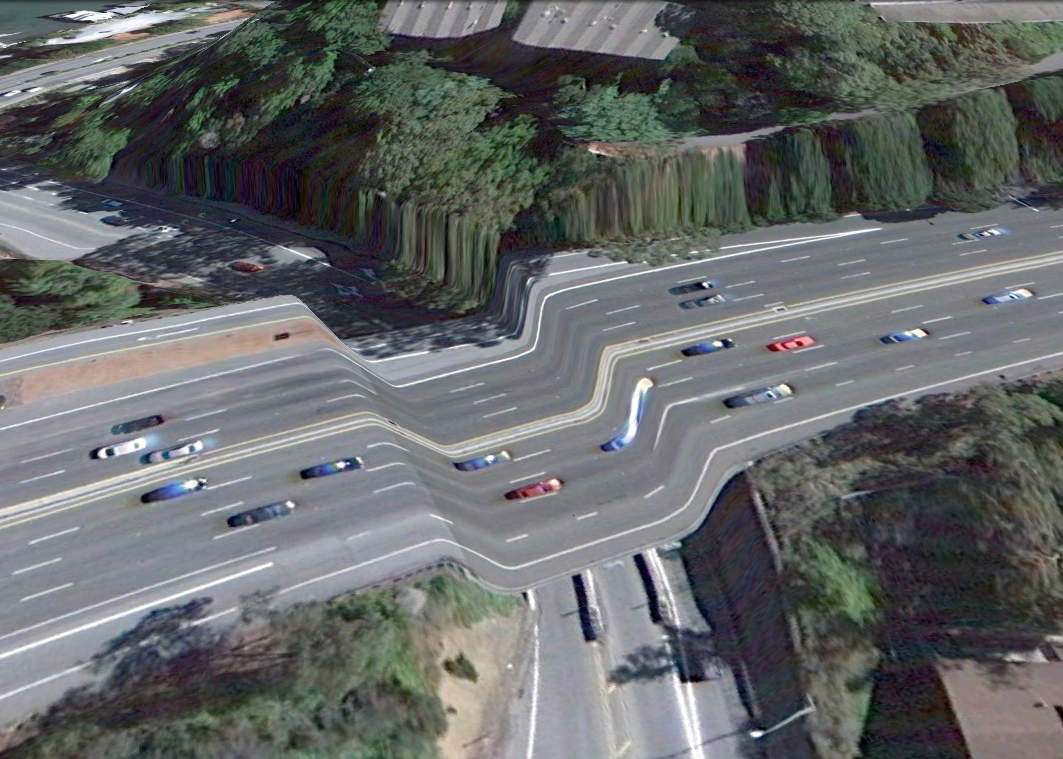 pont route google earth altitude relief 3d 02 Les ponts de Google Earth  geek featured art