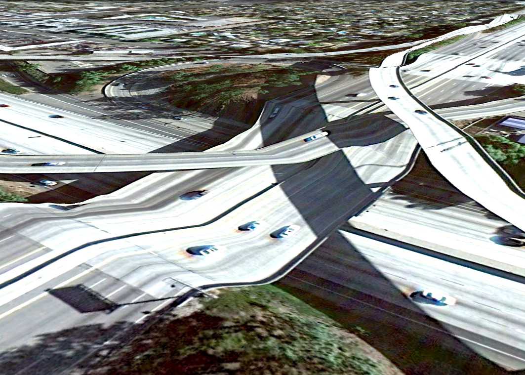 pont route google earth altitude relief 3d 16 Les ponts de Google Earth  geek featured art