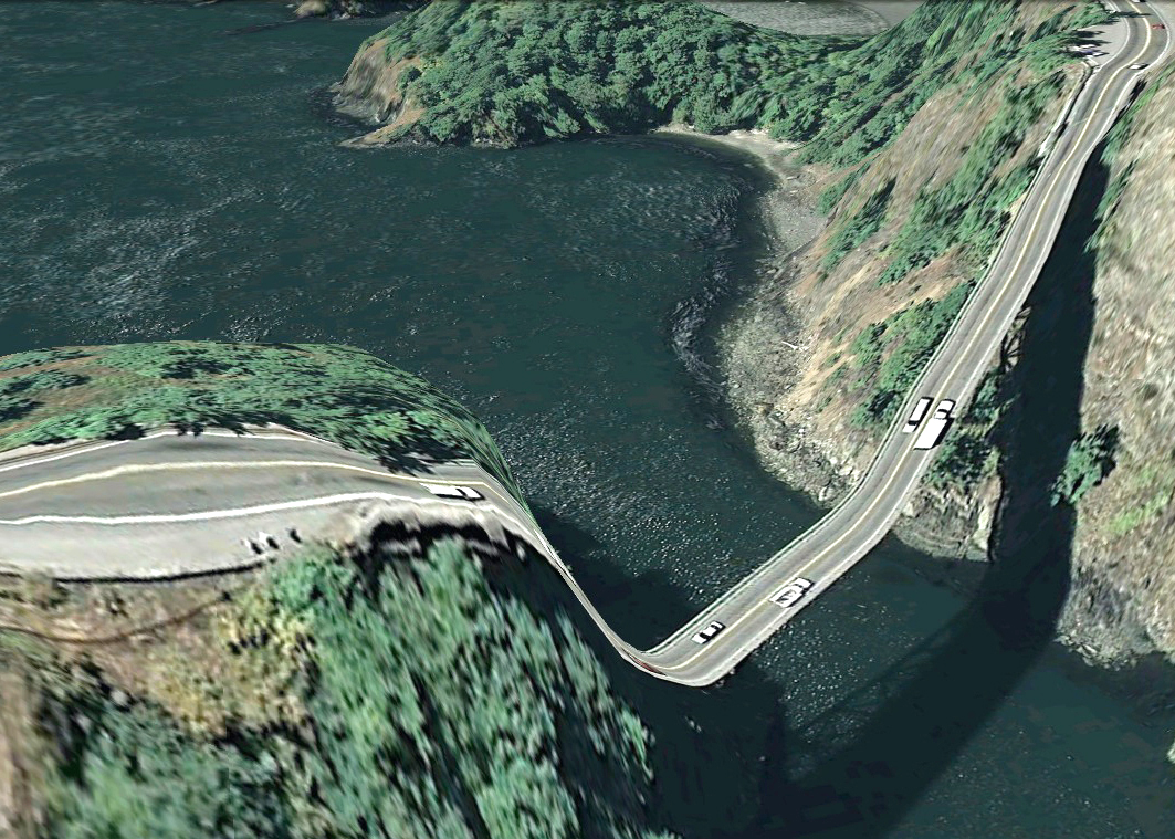 pont route google earth altitude relief 3d 17 Les ponts de Google Earth  geek featured art
