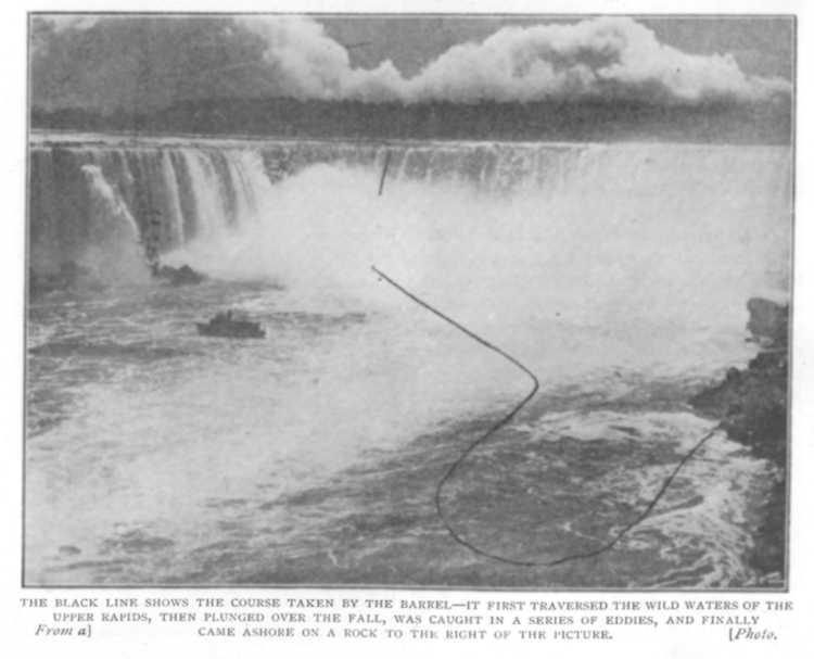 Annie Edson Taylor chute niagara tonneau tomber cascade 09 Ils ont descendu les chutes du Niagara en tonneau