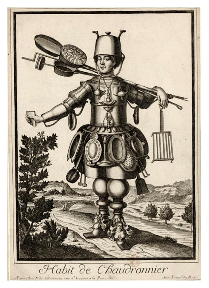 Nicolas Larmessin Costumes Grotesques Habit metier 44 Costumes grotesques et métiers de Nicolas de Larmessin