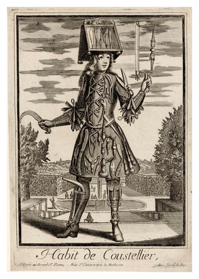 Nicolas Larmessin Costumes Grotesques Habit metier 50 Costumes grotesques et métiers de Nicolas de Larmessin