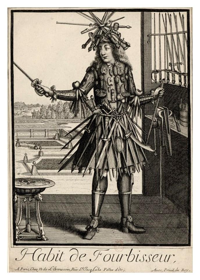 Nicolas Larmessin Costumes Grotesques Habit metier 53 Costumes grotesques et métiers de Nicolas de Larmessin