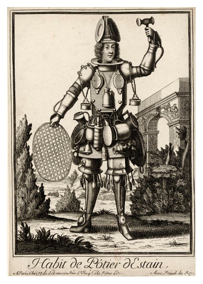 Nicolas Larmessin Costumes Grotesques Habit metier 58 Costumes grotesques et métiers de Nicolas de Larmessin