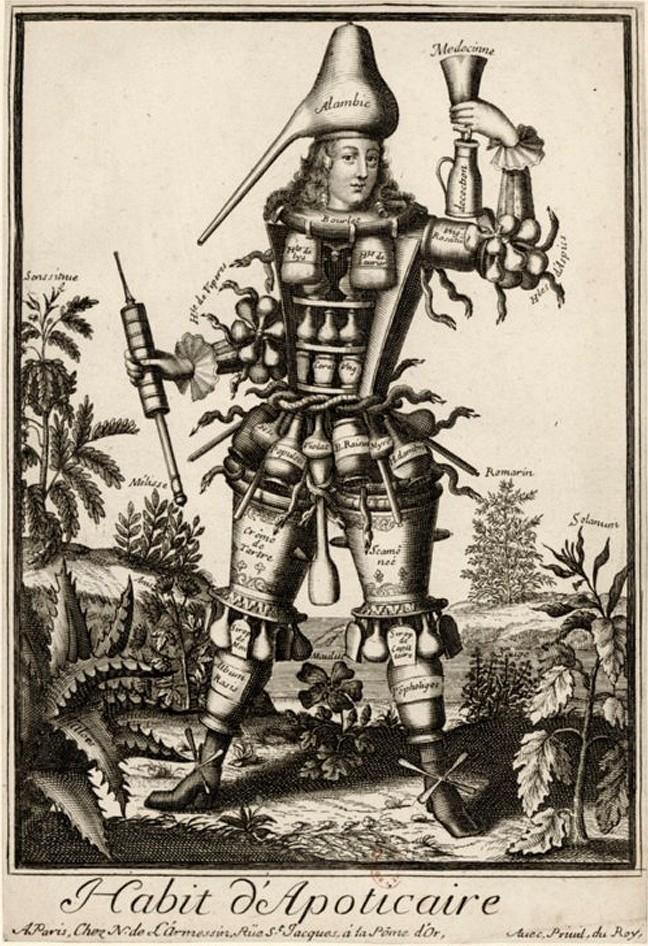 Nicolas Larmessin Costumes Grotesques Habit metier 60 Costumes grotesques et métiers de Nicolas de Larmessin