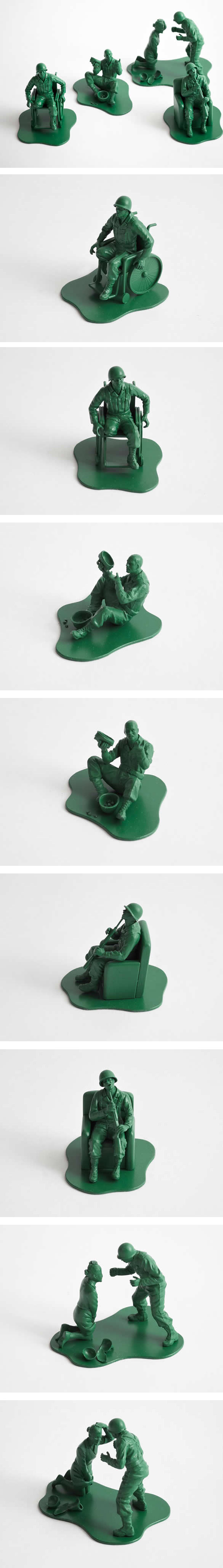 Petit soldat vert jouet realiste Petit soldat vert jouet realiste