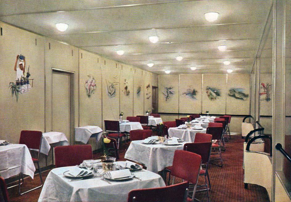 L 39 int rieur du dirigeable l 39 hindenburg en couleur for Inside l interieur