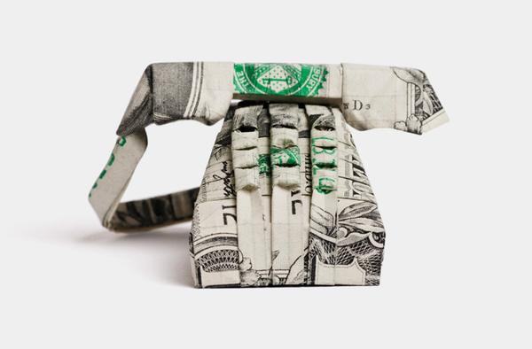 Origami Koi Fish With Dollar Bill