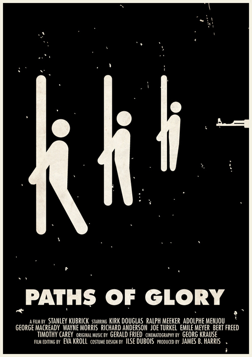 stanley kubrick affiche icone 02 Affiches des films de Stanley Kubrick en pictogrammes