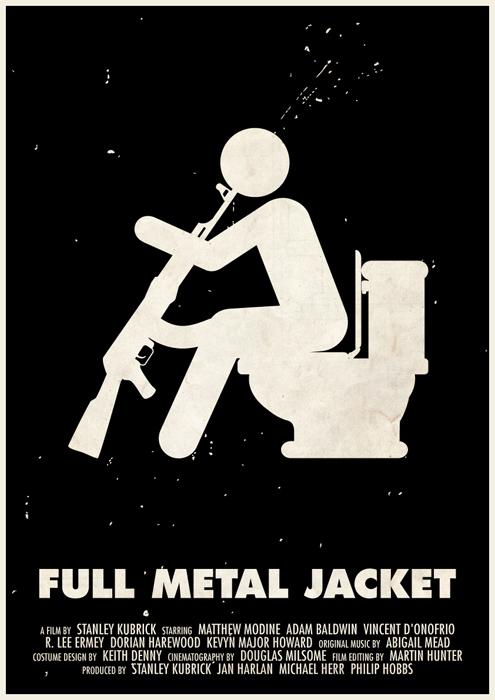 stanley kubrick affiche icone 10 Affiches des films de Stanley Kubrick en pictogrammes
