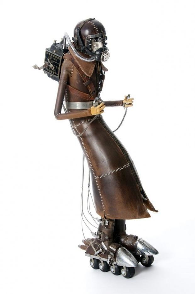 stephane halleux sculpture personnage 07 Les étranges personnages de Stephane Halleux