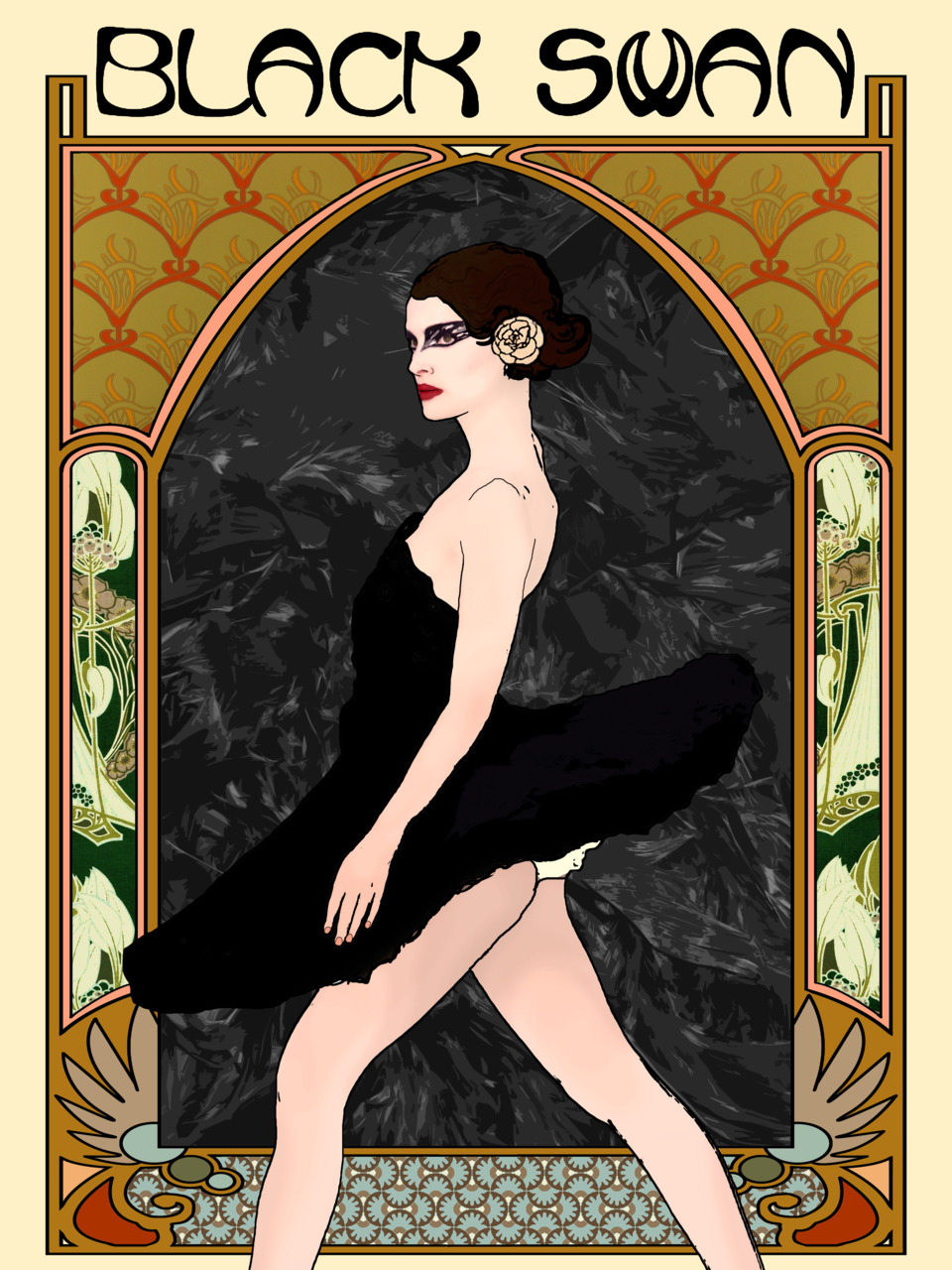 affiches de films style art nouveau. Black Bedroom Furniture Sets. Home Design Ideas