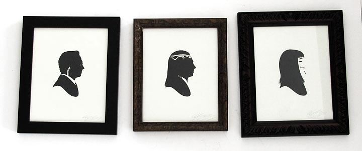 silhouette personnage celebre papier 10 Silhouettes de figures populaires en papier