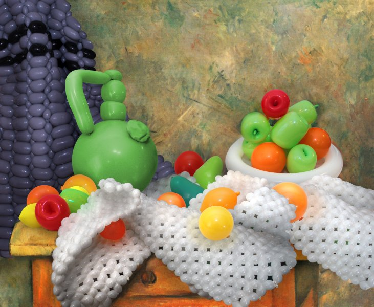 oeuvre art peinture ballon clown 03 Oeuvres dart en ballons