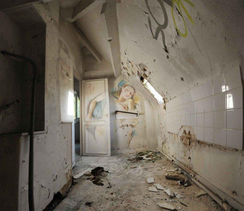 peinture classique grafiti lieu squat abandonne 02 Peintures classiques intégrées dans des lieux abandonnés