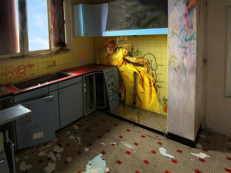 peinture classique grafiti lieu squat abandonne 03 Peintures classiques intégrées dans des lieux abandonnés