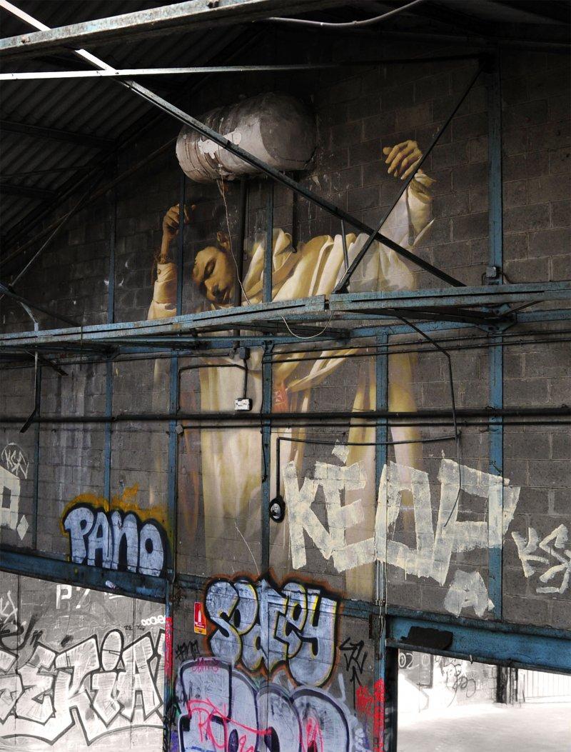 peinture classique grafiti lieu squat abandonne 05 Peintures classiques intégrées dans des lieux abandonnés