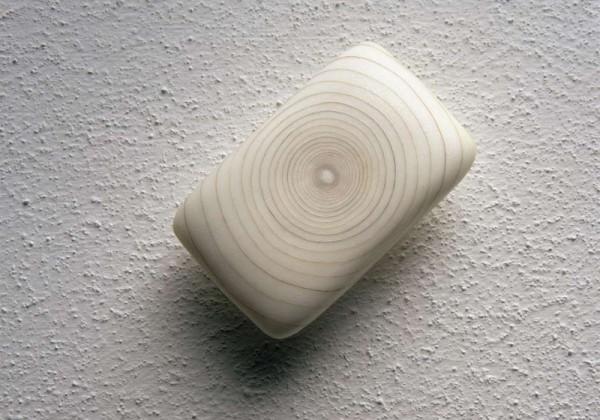Savonnette avec spirale de poils pubiens