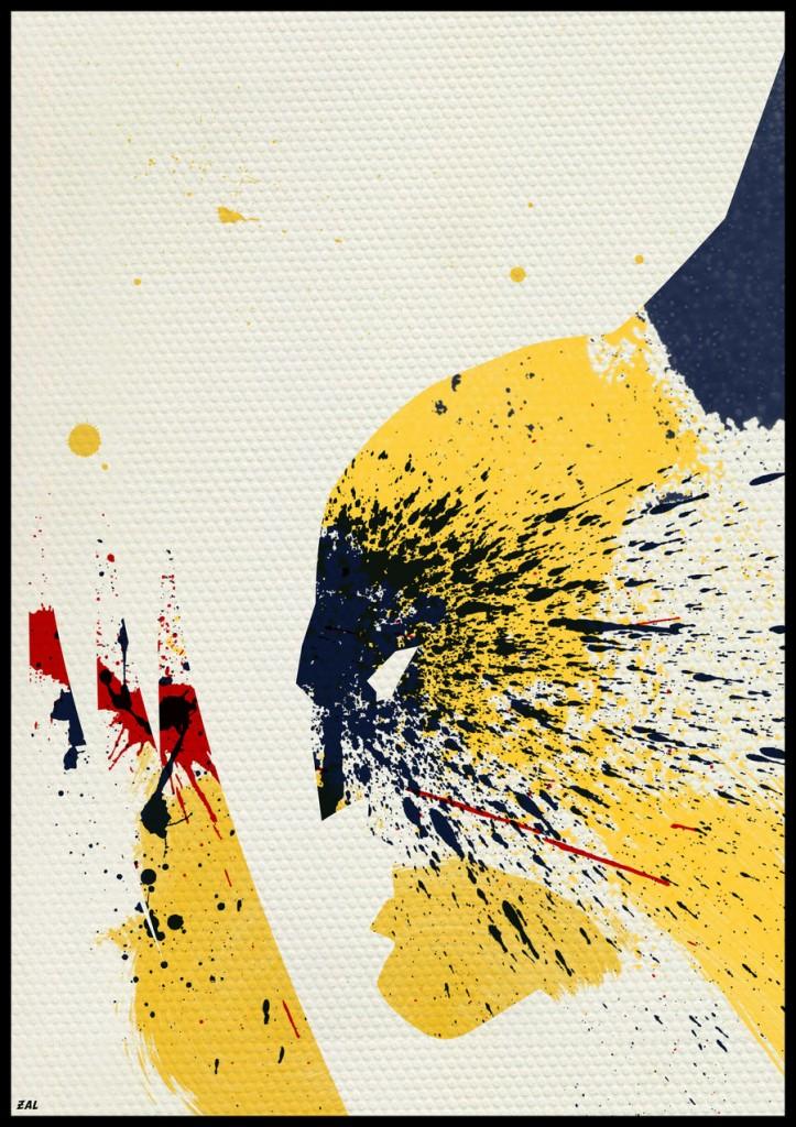 superhero peinture pochoir 01 Peinture, pochoirs et super héros