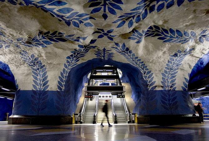 Metro Stockholm Station Art 02 Les stations du Métro de Stockholm