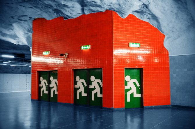 Metro Stockholm Station Art 08 Les stations du Métro de Stockholm