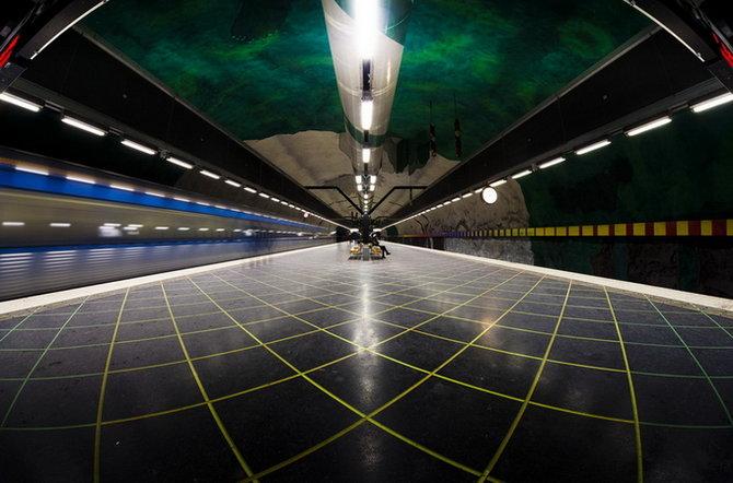 Metro Stockholm Station Art 09 Les stations du Métro de Stockholm