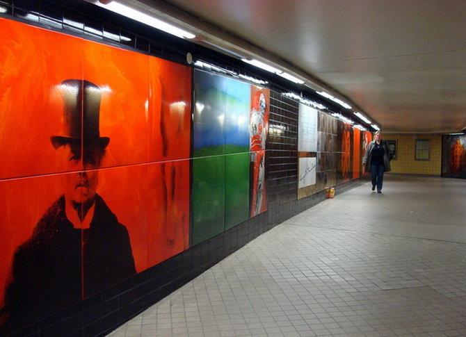 Metro Stockholm Station Art 10 Les stations du Métro de Stockholm