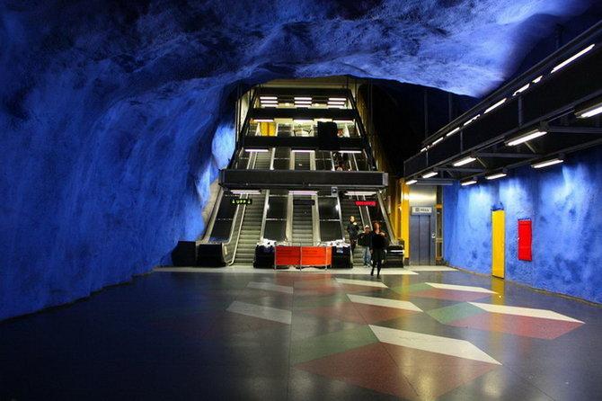 Metro Stockholm Station Art 11 Les stations du Métro de Stockholm