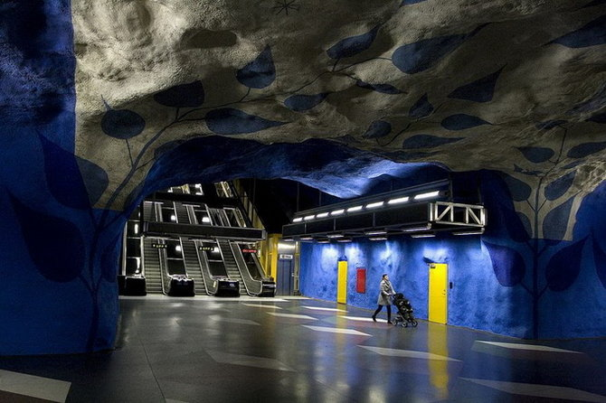 Metro Stockholm Station Art 12 Les stations du Métro de Stockholm