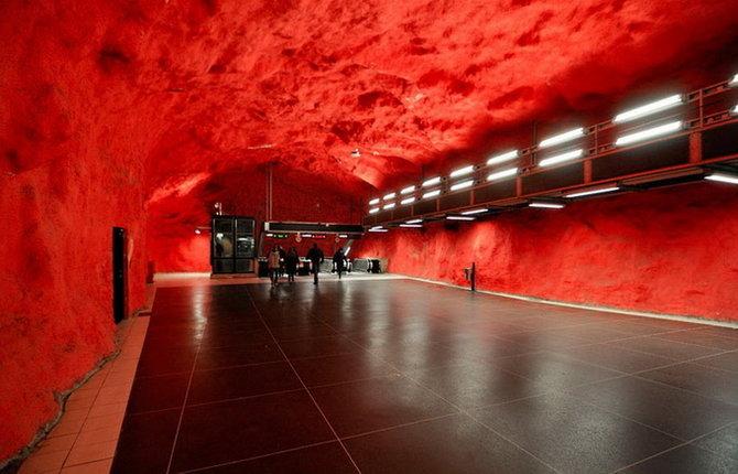 Metro Stockholm Station Art 13 Les stations du Métro de Stockholm